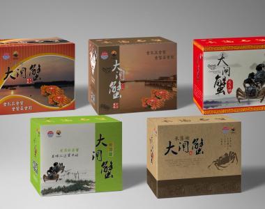 5款大闸蟹礼盒包装源文件